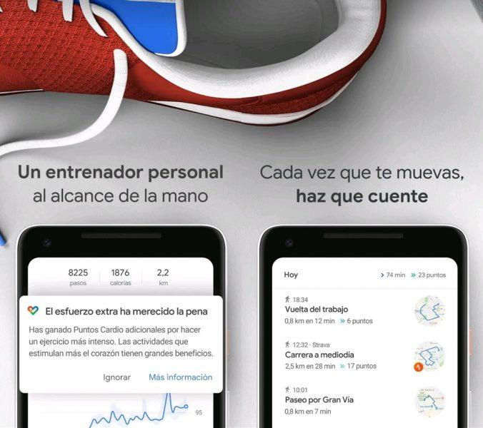 Apps para contar pasos - Google Fit