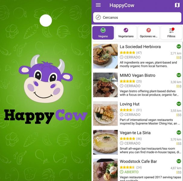 Apps para veganos - Happy Cow