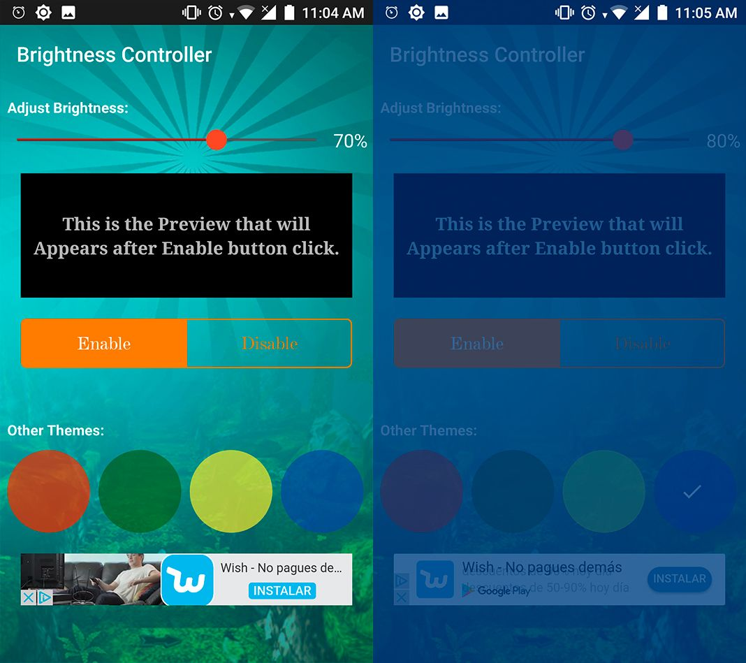 Brightness Controller screenshot Safeguard your vision with these ten light filter apps for Android