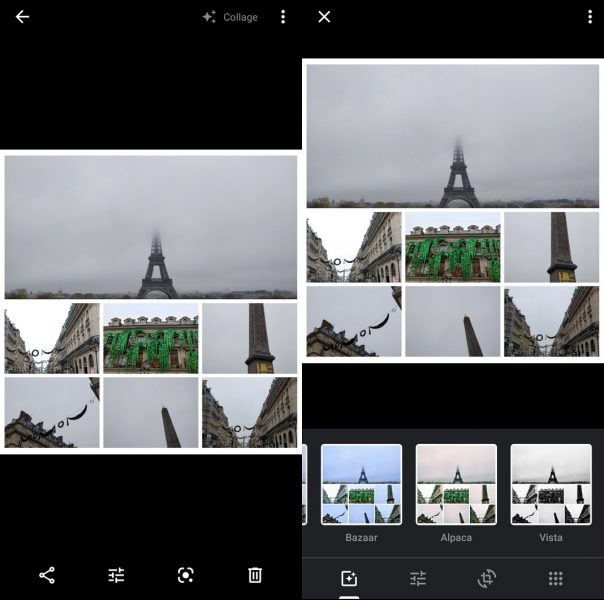 Collage en Google Fotos