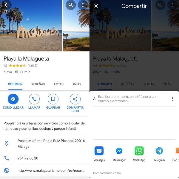 Compartir ubicación - Trucos para Google Maps