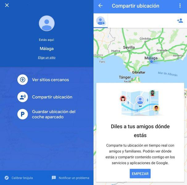 Compartir ubicación en tiempo real