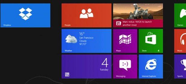 Dropbox, Windows 8,