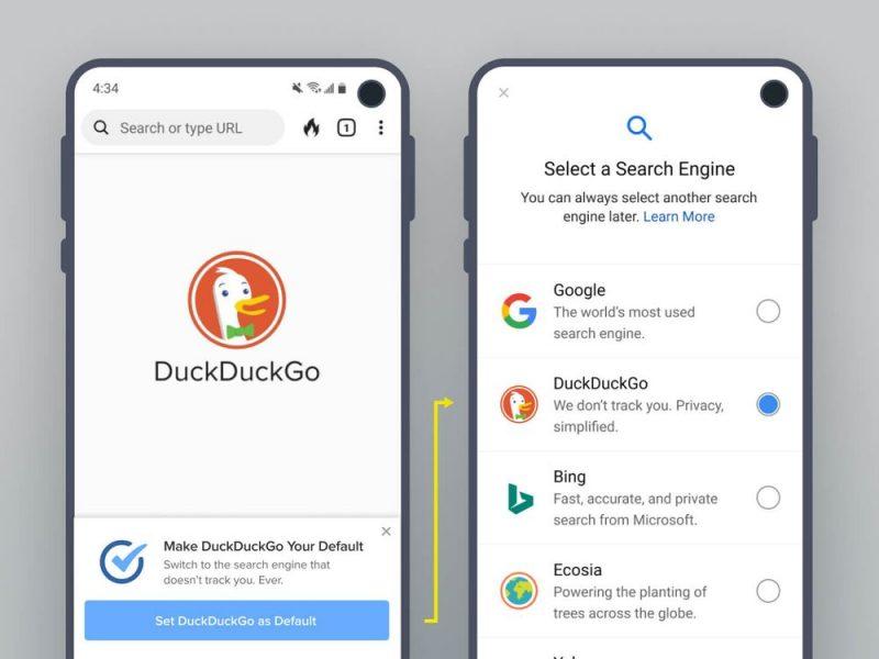 Establecer DuckDuckGo como navegador por defecto