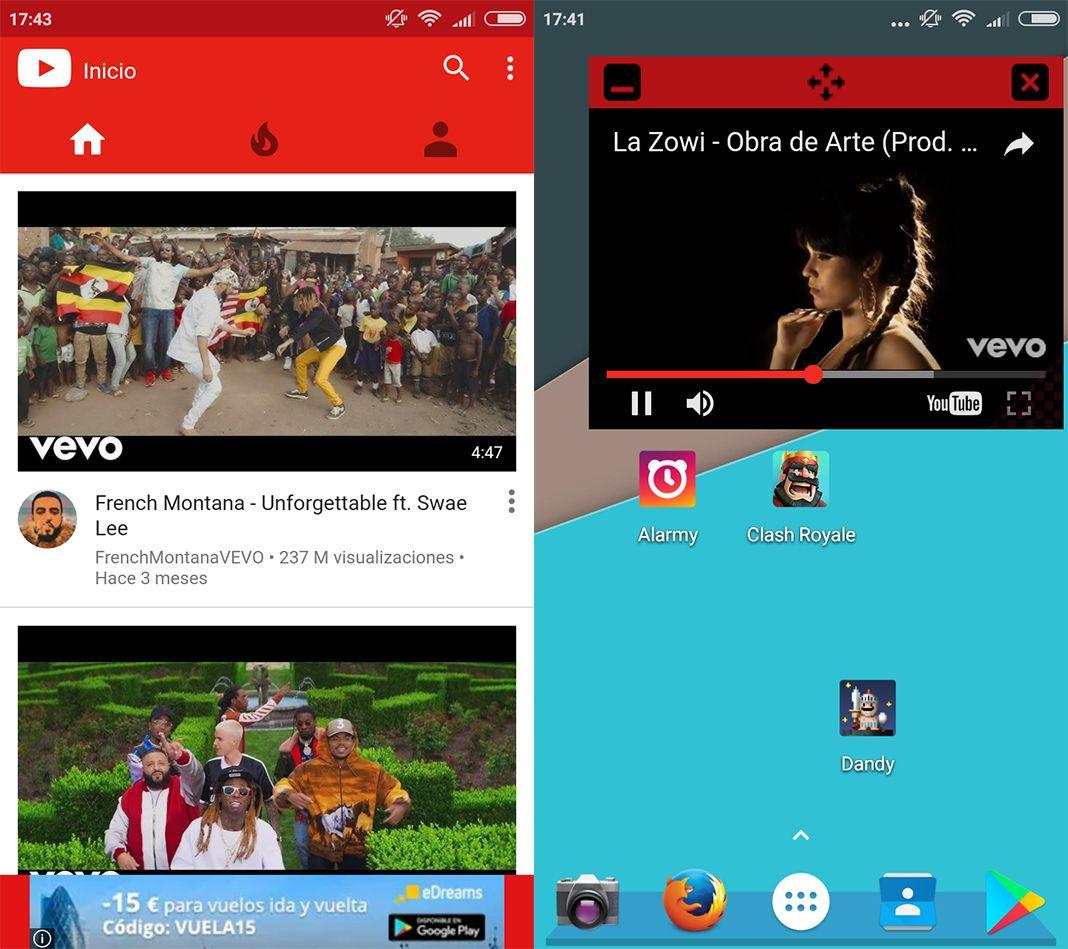 Floating Tube screenshot Cómo escuchar música de YouTube en segundo plano de forma gratuita