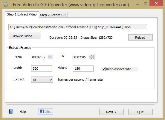 Free Video to GIF Converter 1