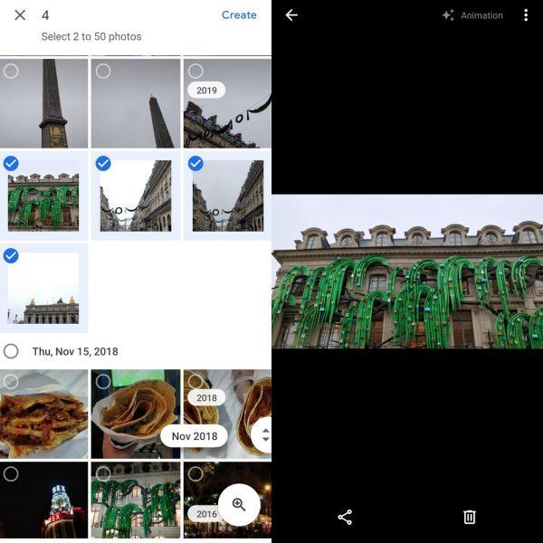 GIF en Google Fotos
