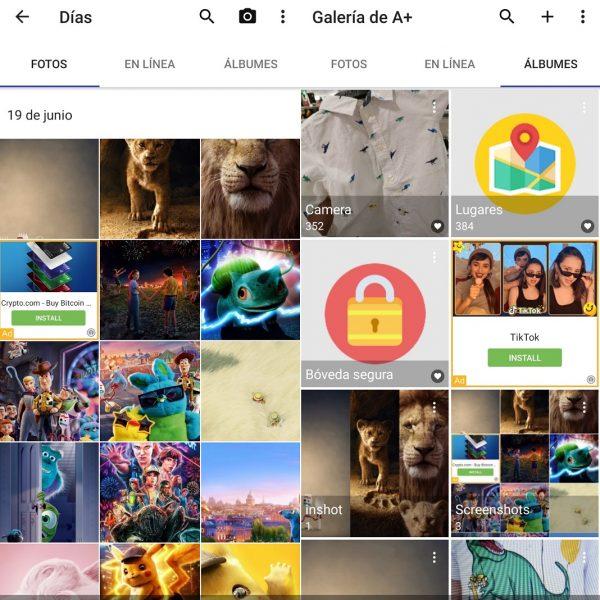 Mejores galerías de imágenes en Android - Galería de A+