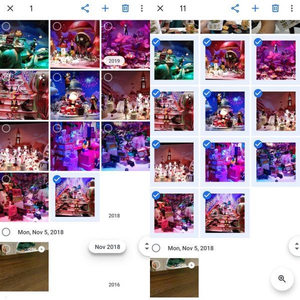 Google Fotos - Seleccionar galería