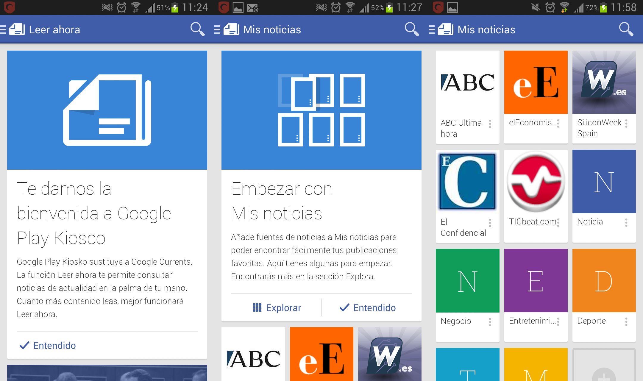 Google lanza Play Newsstand para sustituir al viejo Currents