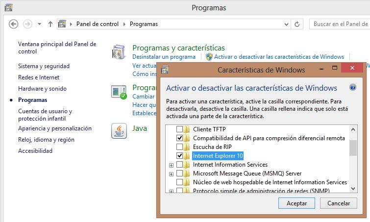 Internet Explorer 10 desinstalar 1