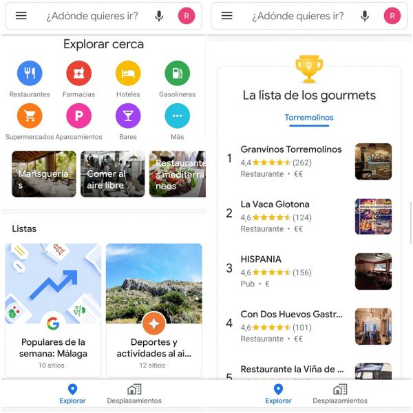 Lugares cerca de ti en Google Maps
