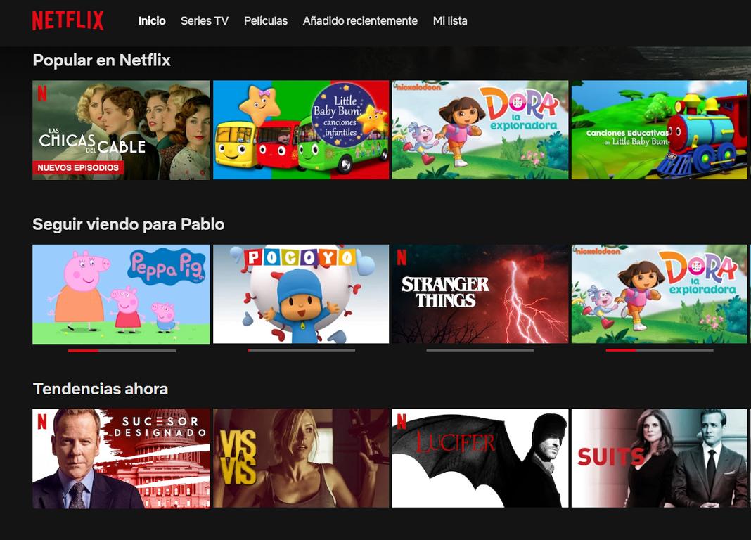 Netflix recomendaciones