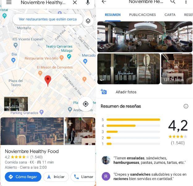 Opiniones - Trucos para Google Maps