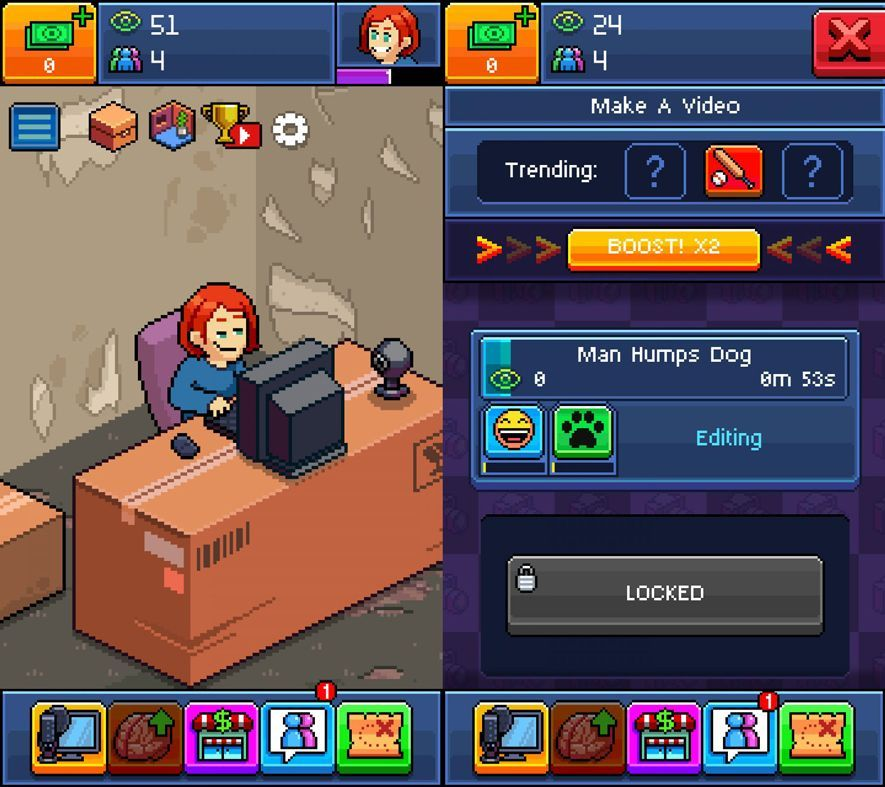 PewDiePie screenshot Five (+1) free Android games about YouTubers