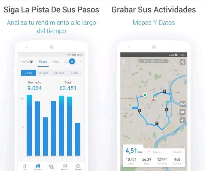 Podómetro Pacer - Apps para contar pasos