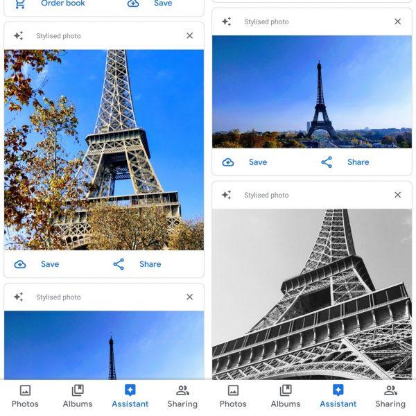 Retoque automático Google Fotos