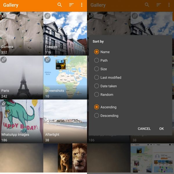 Mejores galerías de imágenes en Android - Simple Gallery