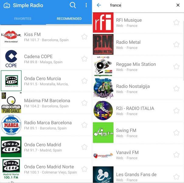 mejores apps para escuchar la radio - Simple Radio