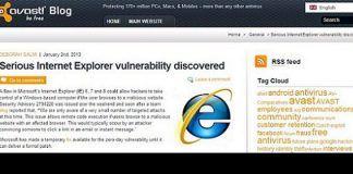 Internet Explorer, Google Chrome, Avast