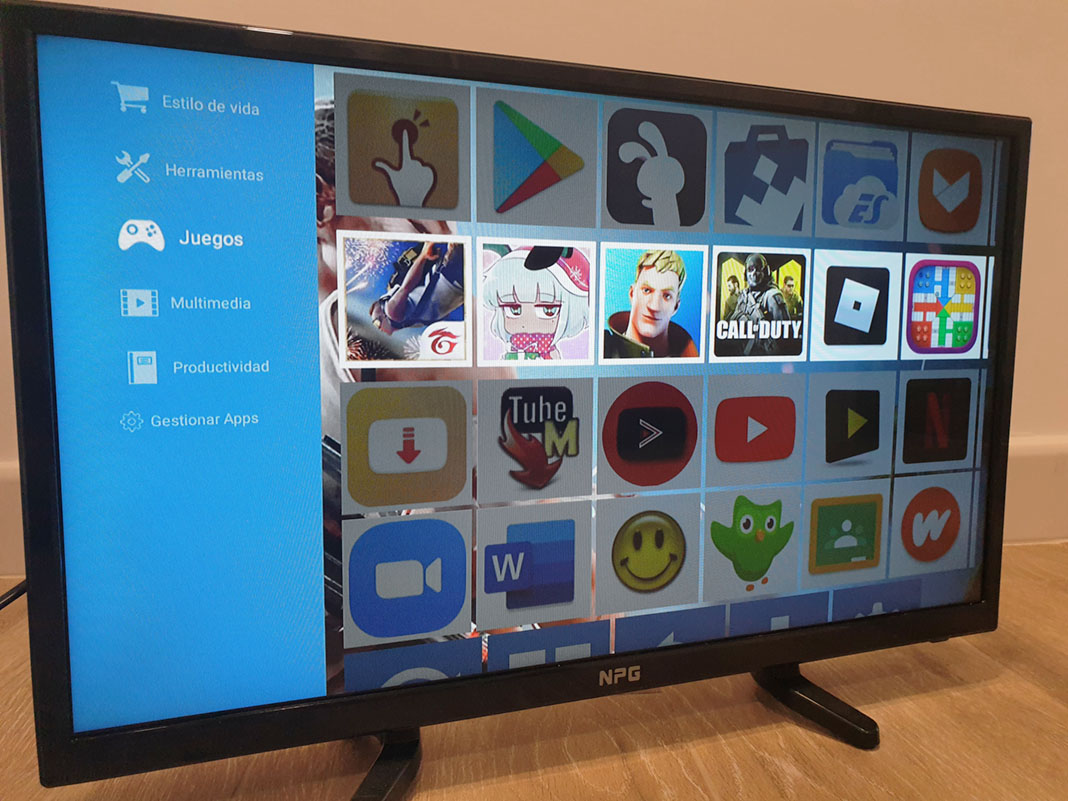 Uptodown App Store en un smartTV NPG