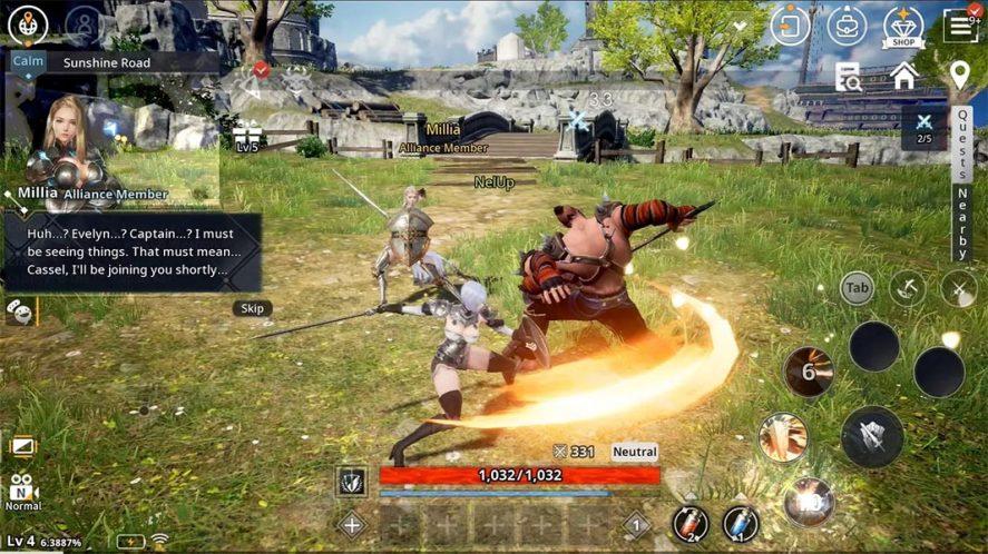 V4 screenshot mejores MMORPG Android