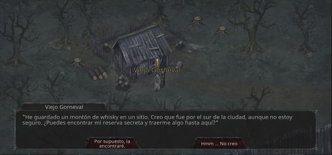 Game image, with Spanish text