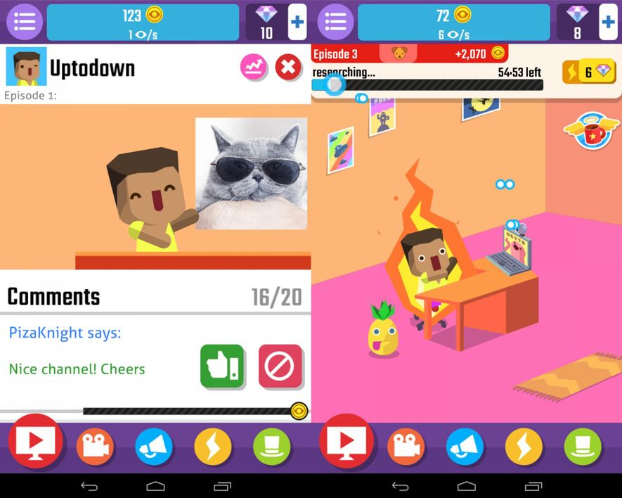 Vlogger Go Virall screenshot Five (+1) free Android games about YouTubers