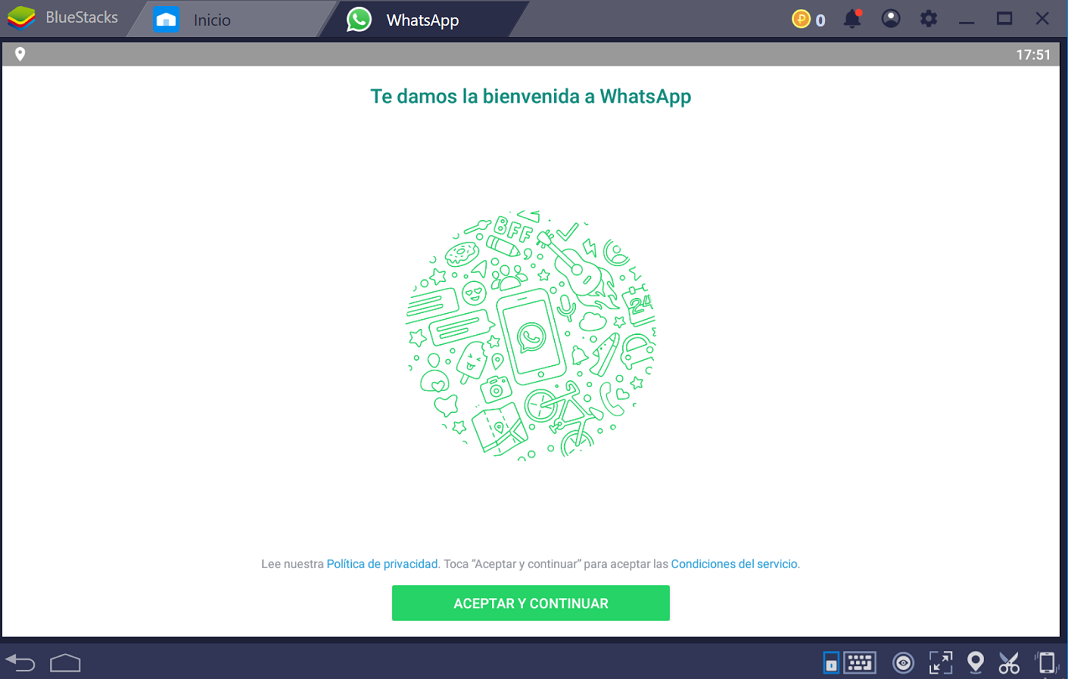 WhatsApp con Bluestack