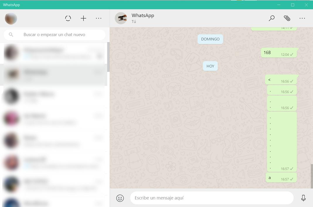 WhatsApp con Windows