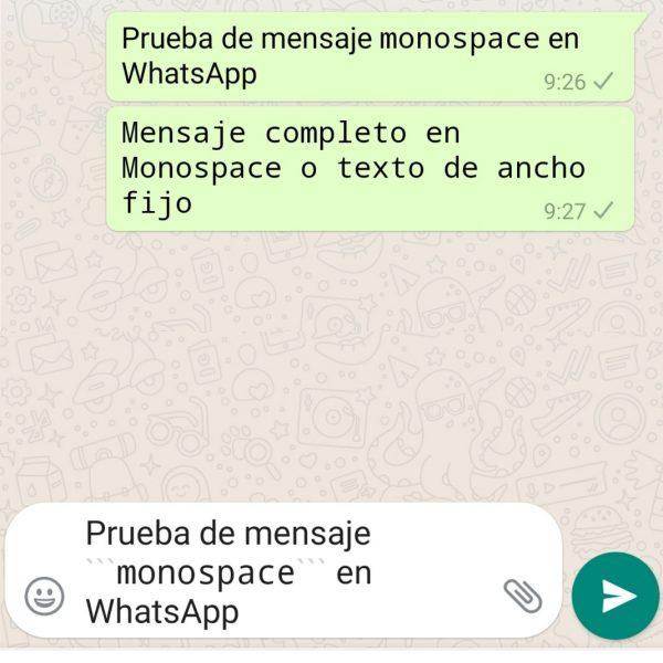 WhatsApp em Monospace