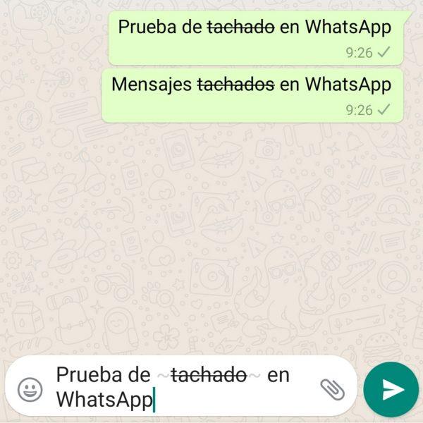 Mudar formatação de mensagens do WhatsApp - WhatsApp tachado