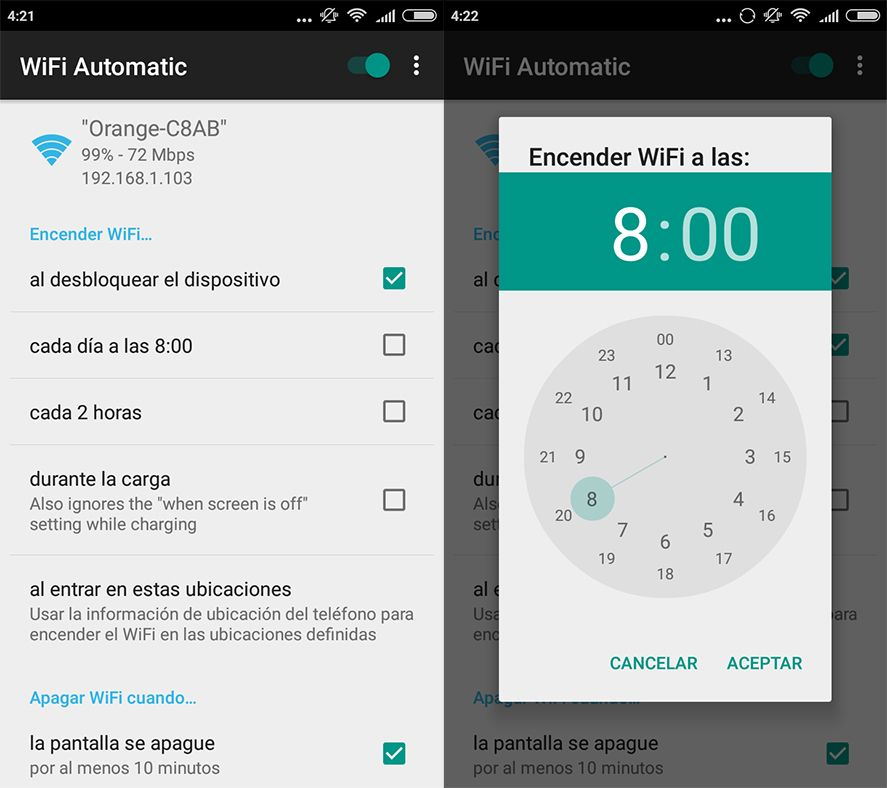 WiFi Automatic screenshot These apps save on battery by switching your WiFi off automatically
