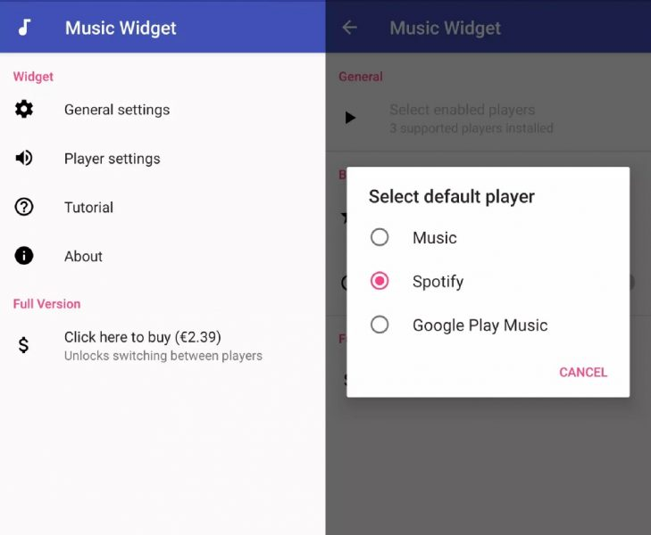 Ubiquity Music Widget