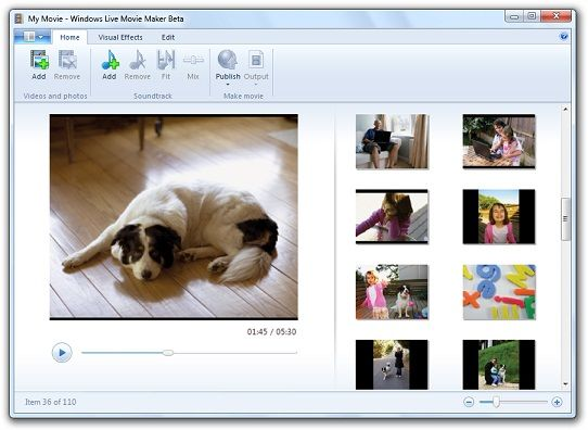 Windows Live Movie Maker el programa más usado para hacer videos con fotos y canciones