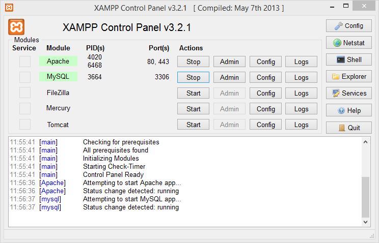 Xampp-Panel-Control