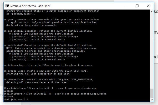 adb uninstall command Cómo eliminar bloatware en dispositivos Android sin ser root