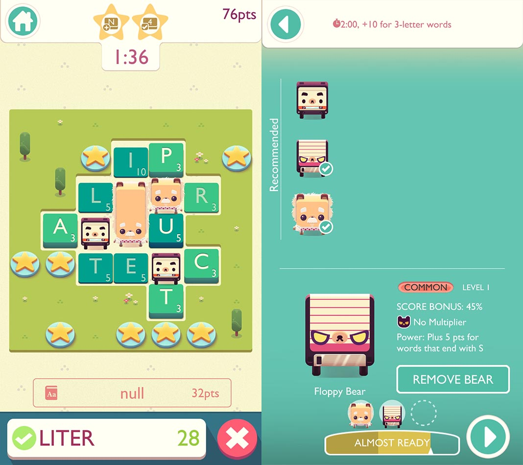 alphabear 2 screenshots 2 Word puzzles are making a comeback with Alphabear 2