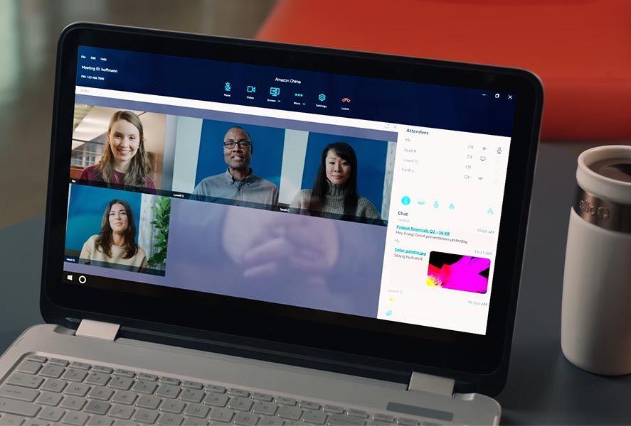 amazon chime screenshot 1 Amazon lanza Chime, su servicio de mensajería y videoconferencia