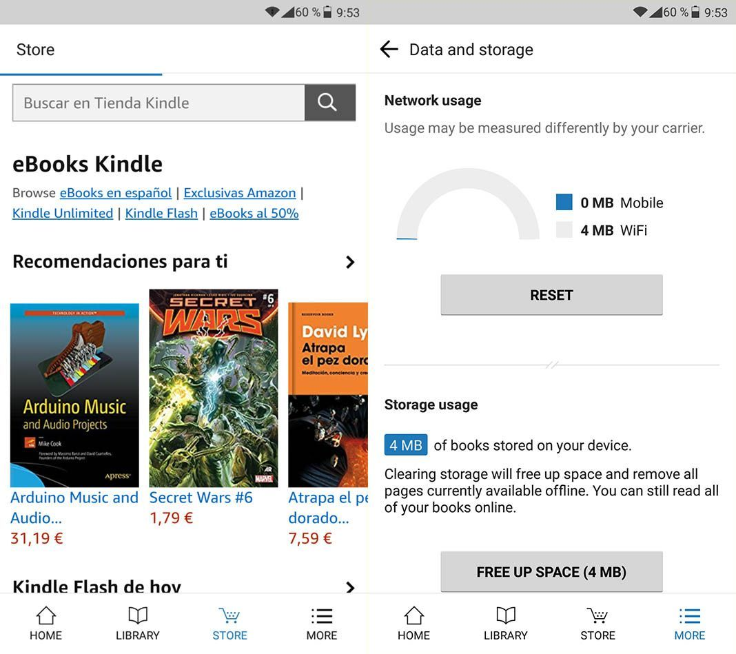 amazon kindle lite 2 Amazon Kindle Lite se suma a la moda de las apps de bajo consumo