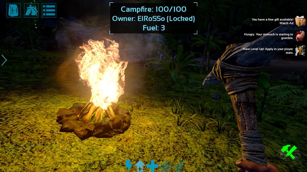 Ark Survival Evolved Android campamento