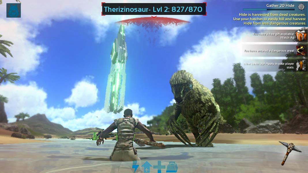 Ark Survival Evolved para Android Therizinosaur