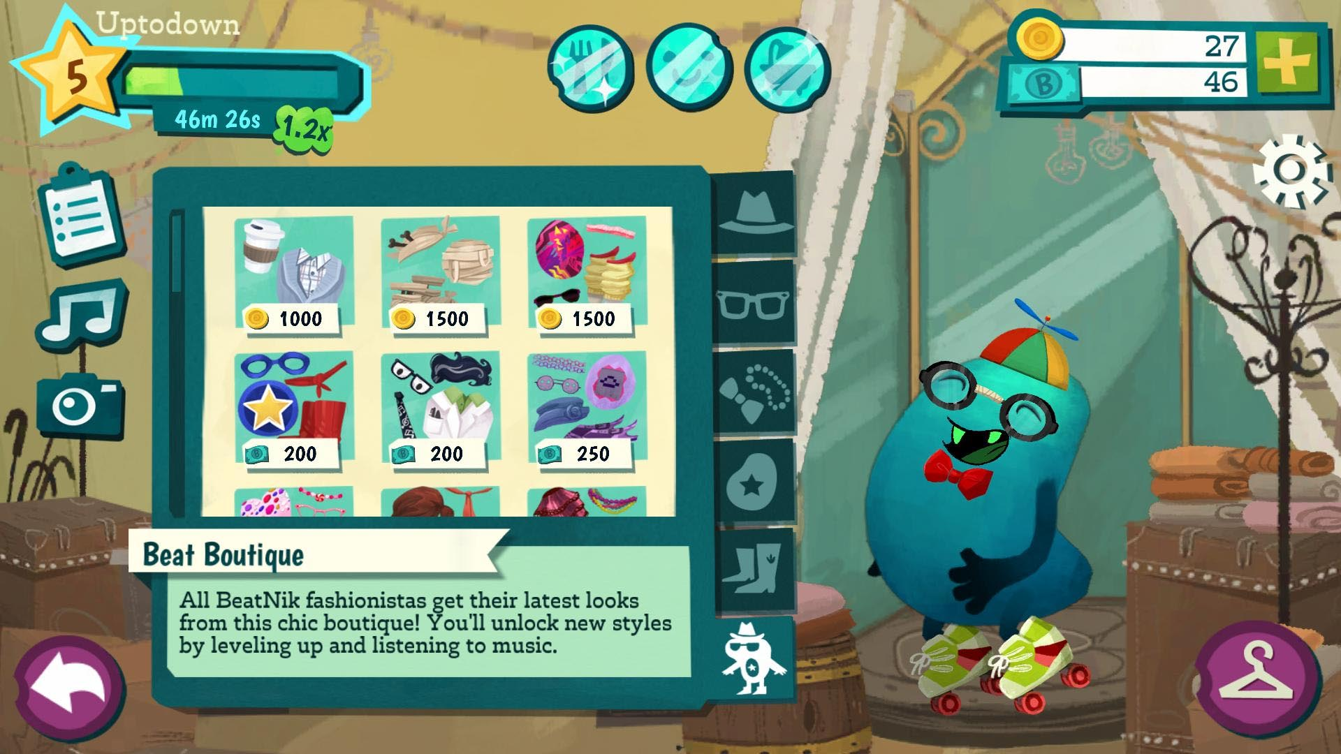 BeatNiks, the virtual pet that grows with your music