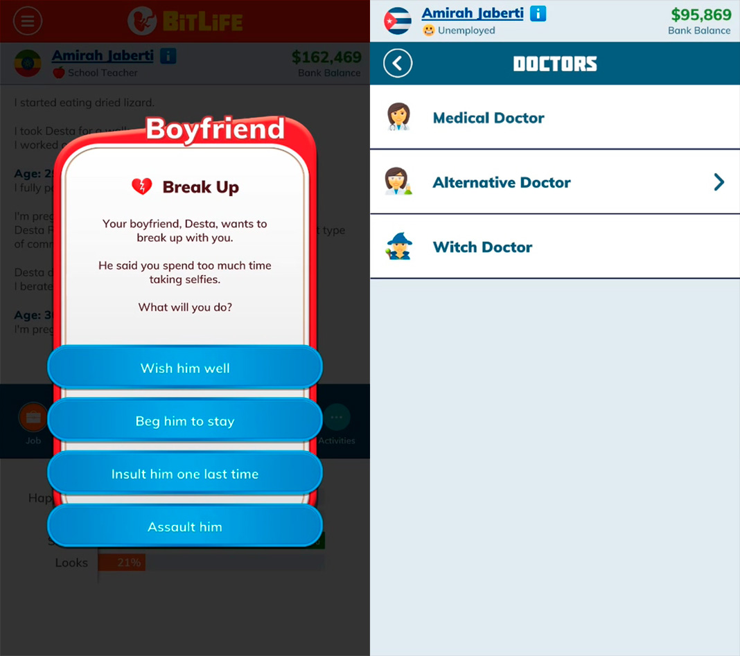 BitLife, the life simulator is now available on Android