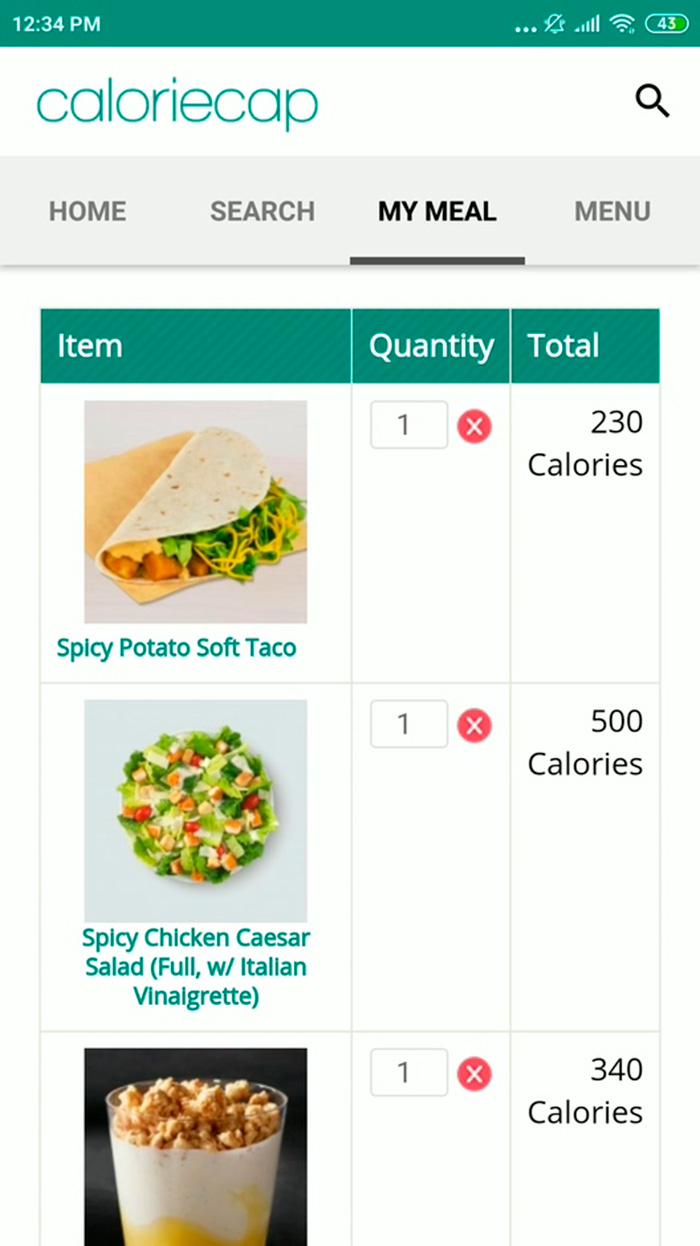 CalorieCap Android