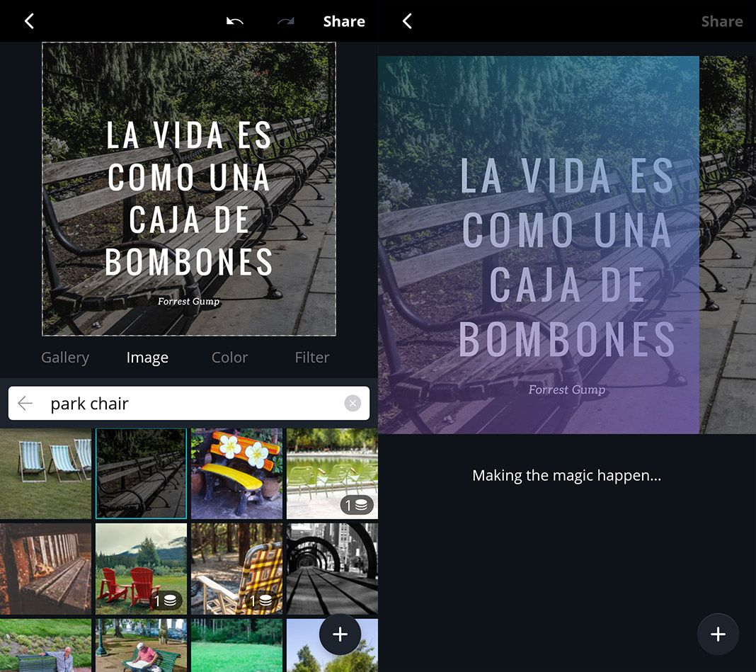 Canva Screenshots Android app 2
