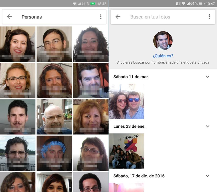 How to activate face detection in Google Photos