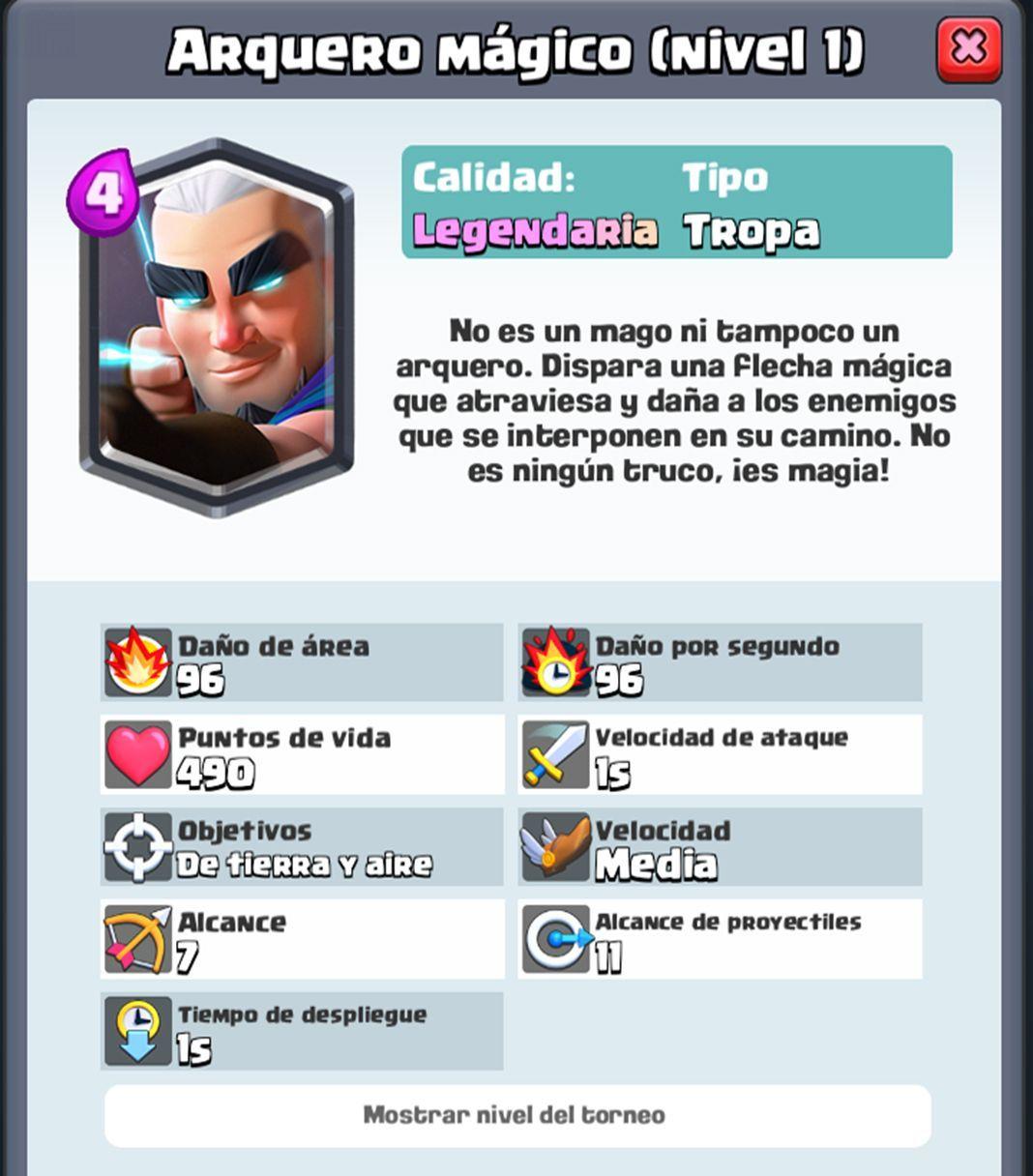 Clash Royale Arquero Magico