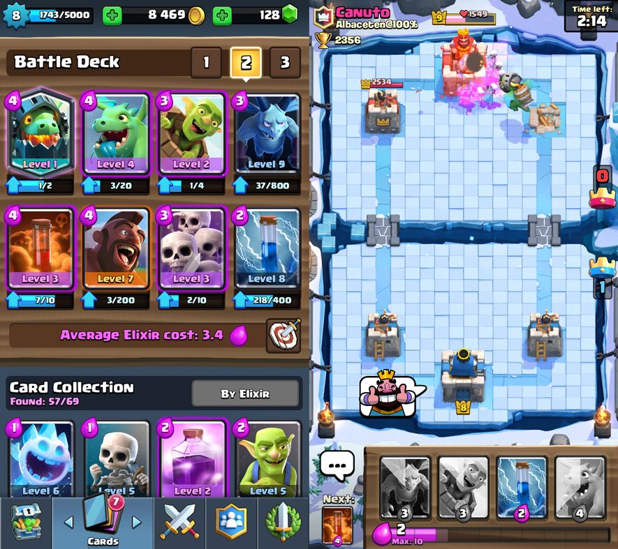 clash royale screenshot 1 2 Eight tips for Clash Royale newbies