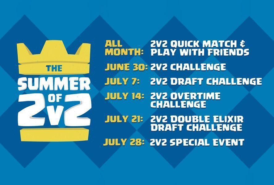 clash royale summer 2v2 Clash Royale se prepara para el verano con muchos eventos 2v2